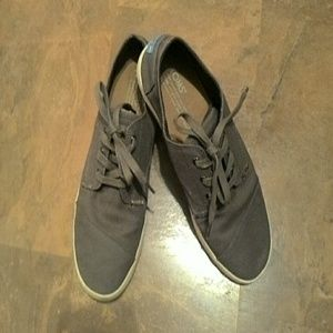 "Ladies""Toms Canvas Lace Ups SZ.-7"